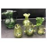 Crackled Glass & Handblown Glass