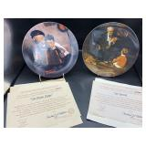 2 Norman Rockwell Collector Plates - Knowles