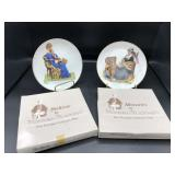 2 Small Norman Rockwell Collector Plates