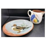 Stangl Pottery Ashtray & Pitcher