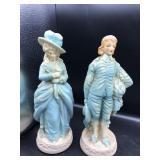 Pair of Victorian Style Lady & Gentlemen