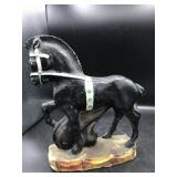 Vintage Black Stallion Chalkware