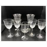 Pair of Mikasa Wine Glasses & More