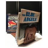 Adjustable Wooden Elephant Bookend w/Books