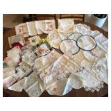 Embroidered Pillowcases, Hankies & More