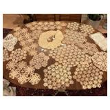 Vintage Hand Crocheted Collar & Doilies