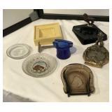 Collection of Ashtrays & Vintage Razor