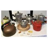 Vintage Tea Kettles and Coffee Maker