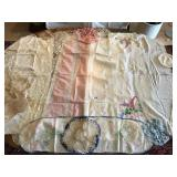 Vintage Table Runners and Small Doilies