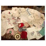 Vintage Embellished Towels, Pot Holders & More