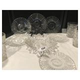 Collection of glassware plates, glasses & more