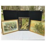 Vintage Lithographs and Print Framed