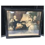 Early Lithograph of Washington Family