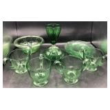 Vintage Green Depression Glass - Heisey & More