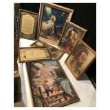 Collection of Religious Framed Prints & Posters