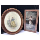 Vintage Oval Frames w/Portraits of Women