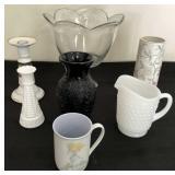 Milk Glass Vase & Pitcher, Noritake and more