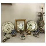 Collection of Bird Figurines, Print, lamp & more