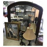 Oil Transfer on Board & Marble Style Lamp