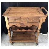 Solid Wood Tea/Wine Cart