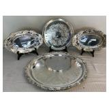 Large Round Silverplated Platter and more