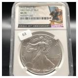 2016 SILVER EAGLE NGC MS70