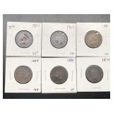 6  INDIAN HEAD CENTS