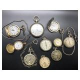10 POCKET WATCHES  NEED WIRK