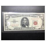 UNC 5 DOLLAR RED SEAL