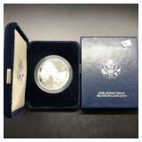 2001 PROOF SILVER EAGLE W BOX PAPERS