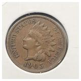 1905 INDIAN HEAD CENT  XF