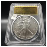 2016 W PCGS SP70 SILVER EAGLE  LETTERED EDGE