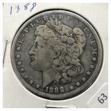 1888 MORGAN DOLLAR  VF