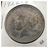 1926 D PEACE DOLLAR  VF