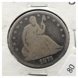 1875 STETED HALF DOLLAR  G