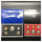 TWO PROOF SETS 1983 1982