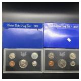 TWO PROOF SETS 1972 1971