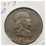 1953 D FRANKLIN HALF DOLLAR