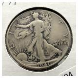 1941 WALKING HALF DOLLAR  F