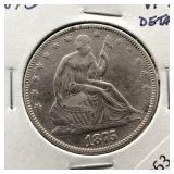 1875 SEATED HALF DOLLAR VF DETAILS