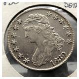 1830 BUST HALF DOLLAR AU DETAILS