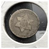 1853 3 CENT SILVER  VG