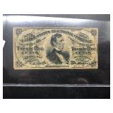 1863 US FRACTIONAL NOTE  25 CENTS  VF