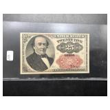 1874 US FRACTIONAL NOTE 25 CENTS  UNC  PQ