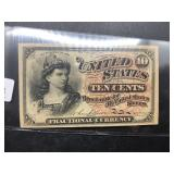 1863 US FRACTIONAL NOTE 10 CENTS  XF