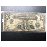 1899 2 $ SILVER CERTIFICATE  VF