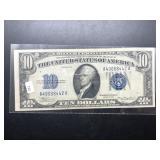 1934 10 $ SILVER CERTIFICATE   VF