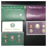 TWO PROOF SETS 1984 1997