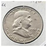 1951 D FRANKLIN HALF DOLLAR  AU