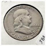 1954 S FRANKLIN HALF DOLLAR VF